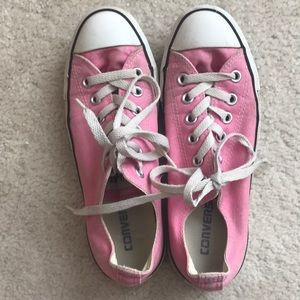 Pink Converse Low Top Shoes